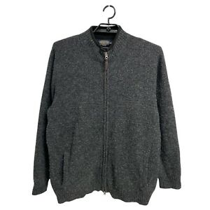 Pendleton woolen mills men's sweater full zip front 100% Shetland wool size XXL