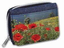 New Poppies & Lake Girls/Ladies Denim Purse Wallet Christmas Gift Idea, FL-31JW