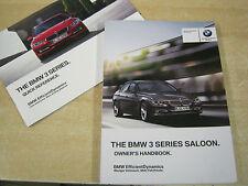 BMW 3 SERIES 2012 - 2015 OWNERS MANUAL HANDBOOK  GENUINE BMW