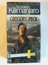 The Snows Of Kilimanjaro VHS **New**  ~ Gregory Peck Movie ~ RARE BOX EDITION