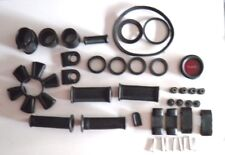 BLACK RUBBER KIT - GOOD FOR  JAWA CZ PERAK 250 350 353 BIKES. REFLECTOR INCLUDED
