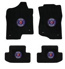 NEW! Black Floor Mats 1999-2005 Saab 9 5 9.5 With Circle Logo on all 4 mats