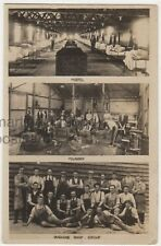 Government Instructional Factory Luton, Foundry, Machine Shop RP Postcard B787