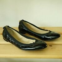 Kate Spade New York Womens Patent Leather Ballet Flats Size 6 M Black Gold Stud