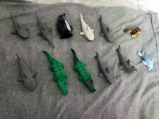 Lego Animals Mini Figure Lot Shark Horse Gator Monkey Penguin