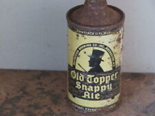 OLD TOPPER. SNAPPY ALE. SOLID.  COLORFUL IRTP.  CONE TOP