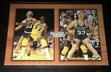 Magic Johnson - hoops 93 - NBA Basketball card - Larry Bird duel card retro 90's