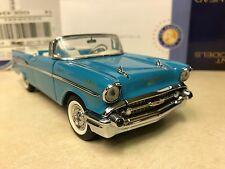 1/24 Franklin Mint Larkspur Blue 1957 Chevrolet Bel Air Convertible B11C407 #816