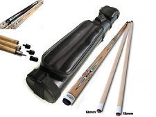 Champion 2 Shaft Maple Pool Cue Stick (19-21 Oz), 2x2 Black Case, Repair kit