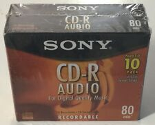 Sony CD-R Audio Music 80 Min. Recordable Compact Discs Slim Jewel Cases 10-Pack