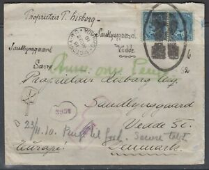 Canada 1910. Registered cover to Denmark.