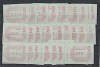 1984 Great Britain Frama Set of 32 muh 1/2p to 16p