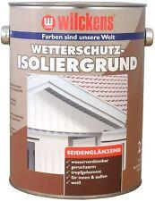 2,5 Liter Wilckens Wetterschutz Farbe Isoliergrund Weiß Grundierung