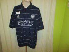 "Manchester United Original umbro Auswärts Trikot 1999/00 ""SHARP digital"" Gr.L"