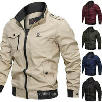 Mens Bomber Jacket Coats Air Force Military Army Combat Flight Casual Jackets