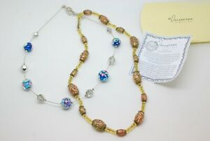 VINTAGE VENETIAN GREEN GOLD FOIL MURANO GLASS NECKLACE + other + certificate