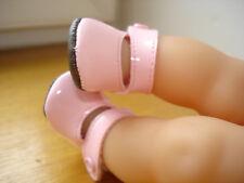 Chaussure rose pour poupée corolle poupon bebe Calin Maria fleurs Mila 30 cm