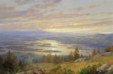 Lake Squam from Red Hill - William Trost Richards 60cm x 40cm Art Paper Print