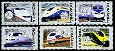 2004 Speed Train,Eurostar,ICE,TGV,AVE,Bullet-Japan,KTX-Korea,Romania,Mi.5799-MNH