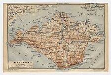 1906 ANTIQUE MAP OF ISLE OF WIGHT / ENGLAND