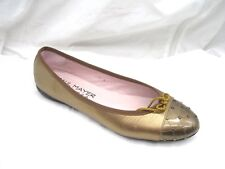 $226 Paul Mayer Attitudes womens gold bronze ballet dress flats shoes 9.5 10M