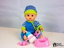 "New 12"" Newborn Lifelike Baby Boy Toy Doll Talking Laughing Doll + Accessories"