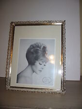 """Vintage Filigree Large Metal Picture Frame 60's 12"""" x 15"""" With Glass"""