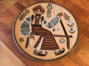Vintage Large USSR Folk Art Charger / Plate – Great! –