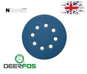 Sanding Discs 5'' 8 holes Wet and Dry 125mm P40-P3000 Orbital Pads Hook and Loop