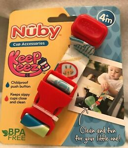 Nuby Keepeez Bottle Catcher Holder Cup Accessory Adjustable Strap Animals New