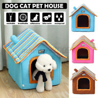 Folding Pet Dog House Sleeping Shelter Bed Cozy Puppy Cave Kennel Cat Pad