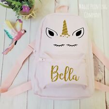 Personalised Unicorn Bag back pack pink gift  Tap Dance Holdall School birthday