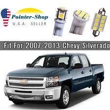 11x 6000K White LED Bulbs Interior Light Package Kit for 2007-13 Chevy Silverado