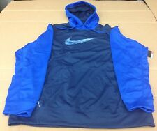 NIKE FLASH SWOOSH THERMA-FIT HOODIE 620171 EXTRA LARGE XL MSRP $55.00 BLUE
