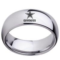 Dallas Cowboys Football Men Ring Titanium Stainless Steel Silver 7 8 9 10 12 13
