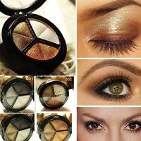 Juego de cosméticos ahumado 3 color Pro mate sombra de ojos maquillaje paleta