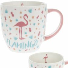 New Lesser And Pavey Mug Beaker Coffee Tea Cup Pink Flamingo LP33821