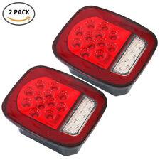 LED Tail Lights Brake Reverse Turn Signal Jeep Wrangler CJ TJ 76-06 Rear Lamps
