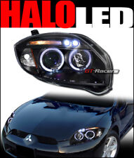 FOR 2006-2011 MITSUBISHI ECLIPSE BLACK DRL LED HALO PROJECTOR HEADLIGHTS SIGNAL