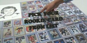 Pick From List NHL Hockey RC Rookie Cards