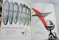 Fab vintage mid century modern art book, space age posters tv's photos 1955!