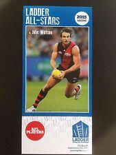 2015 Ladder AFL All Star Card Jobe Watson Essendon Bombers
