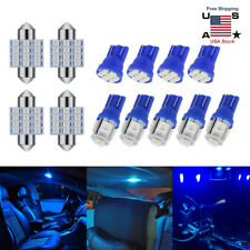 13pcs Car Interior LED Lights Set For Dome License Plate Lamp Bulb Blue US STOCK