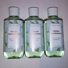 Set of 3 Bath and Body Works Shower Gel Wash Fresh Gardenia Shea & Vitamin E New
