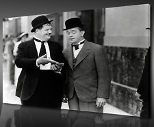 ICONIC RETRO MOVIE LAUREL AND HARDY BOX CANVAS PRINT WALL ART PICTURE