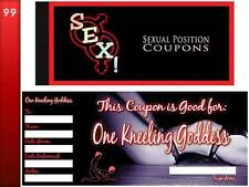 Sex! Sexual Position Coupons Book   Naughty Gift Saucy Vouchers