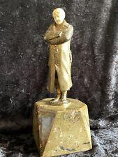 Alfred Brandel Antike Bronze posierender Soldat 1.WK Bronzefigur Marmorsockel