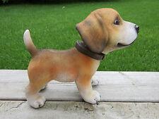 BEAGLE BOBBLE HEAD DOG FIGURINE PUPPY RESIN PET CANINE  CAR DECOR  garden new