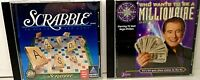 Lot of 2 Complete Games PC/Mac & CD-Rom SCRABBLE & WHO WANTS TO BE A MILLIONAIRE