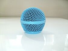 1 X NEW LIGHT BLUE REPLACEMENT MICROPHONE GRILL HEAD FOR SM58 & BETA58 NEW